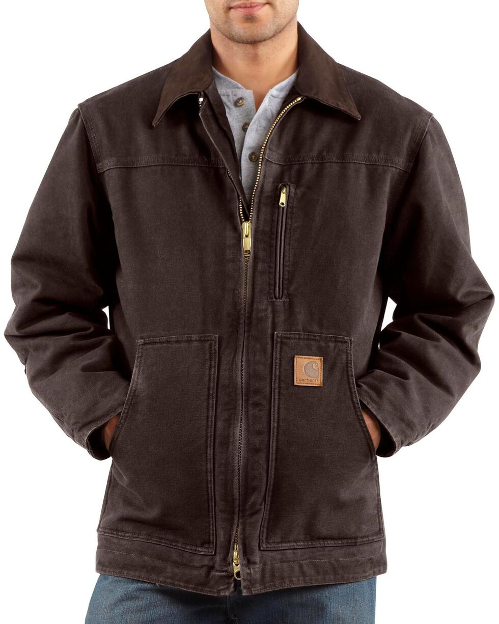 Carhartt Men's Sandstone Ridge Sherpa Lined Jacket, Dark Brown, hi-res