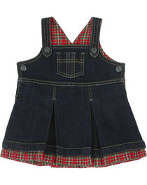 Wrangler Toddler Girls' Plaid and Denim Dress, , hi-res