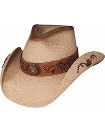 Bullhide Women's More Than A Memory Straw Hat, Natural, hi-res