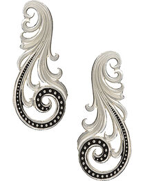 Montana Silversmiths Western Lace Whisper Earrings, , hi-res