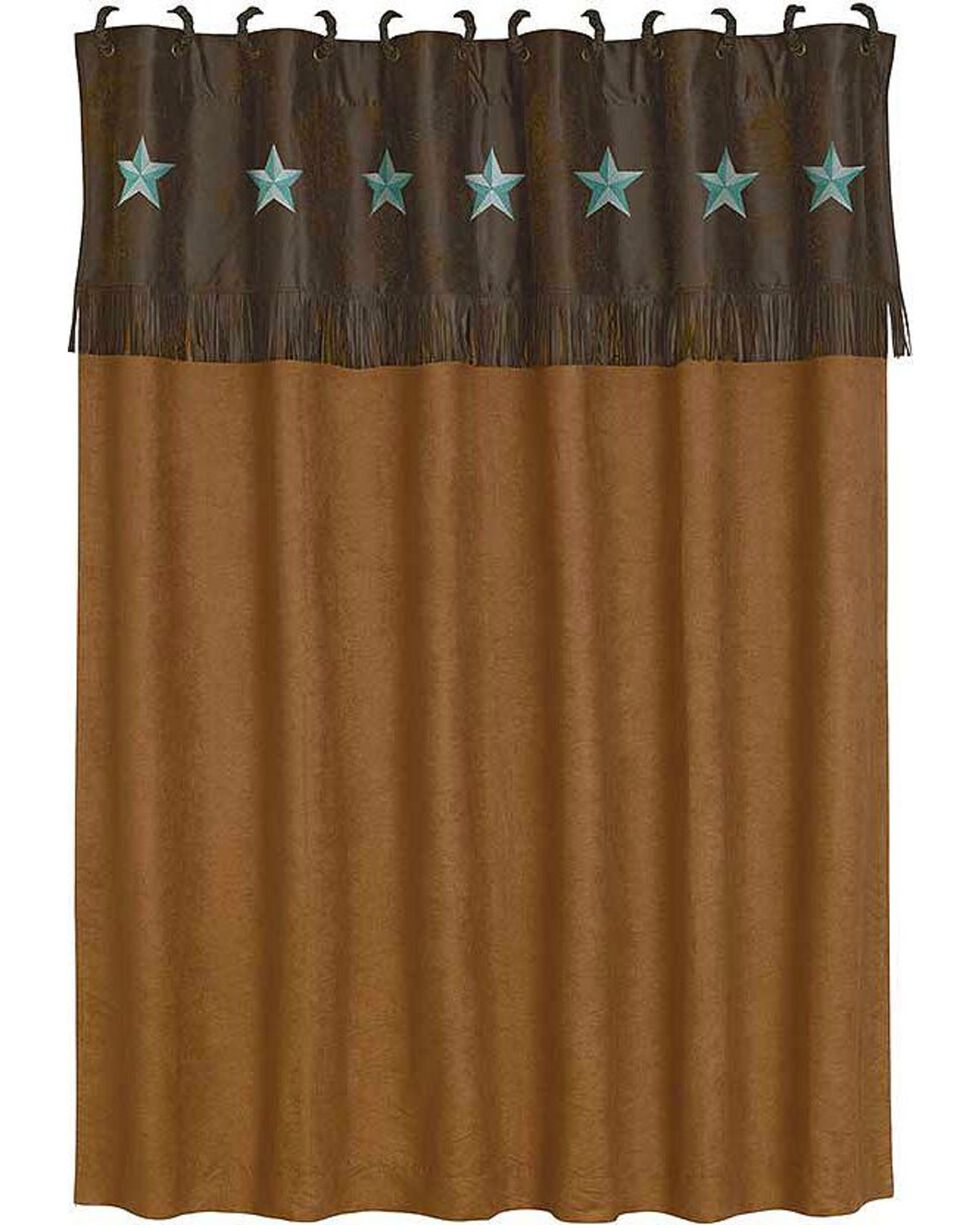 HiEnd Accents Turquoise Laredo Shower Curtain, Multi, hi-res
