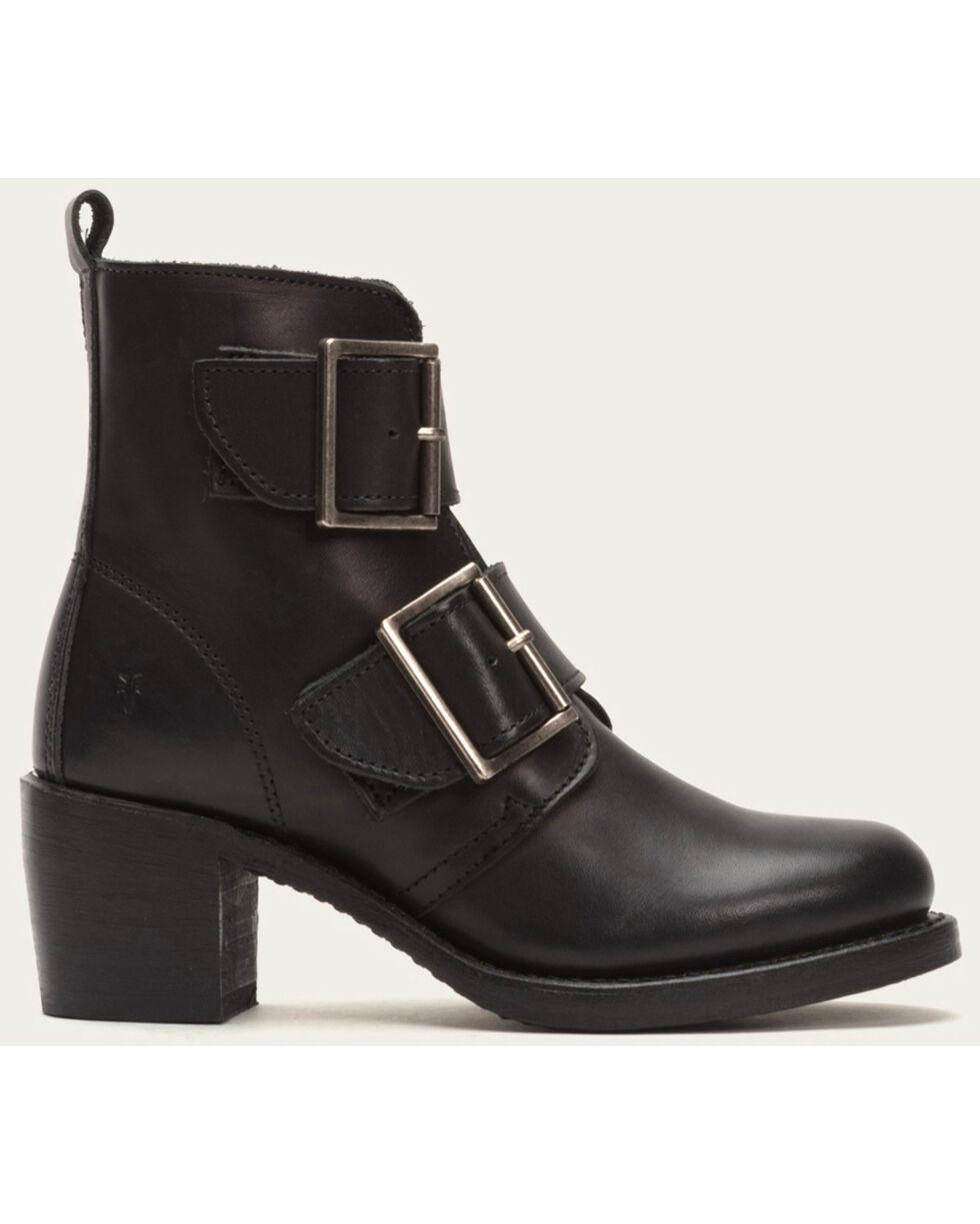 Frye Women's Sabrina Double Buckle Black Leather Boots, Black, hi-res