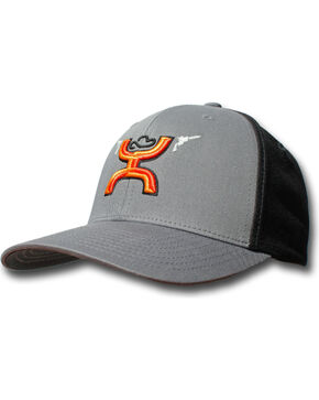 Hooey Men's Gunner Embroidered Baseball Cap , Grey, hi-res