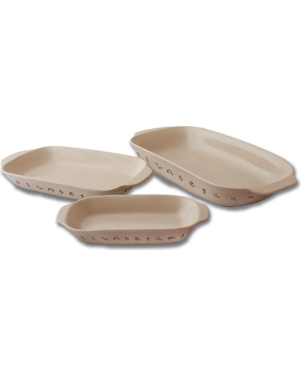 Moss Brothers 3-Piece Brands Baking Dish Set , Ivory, hi-res