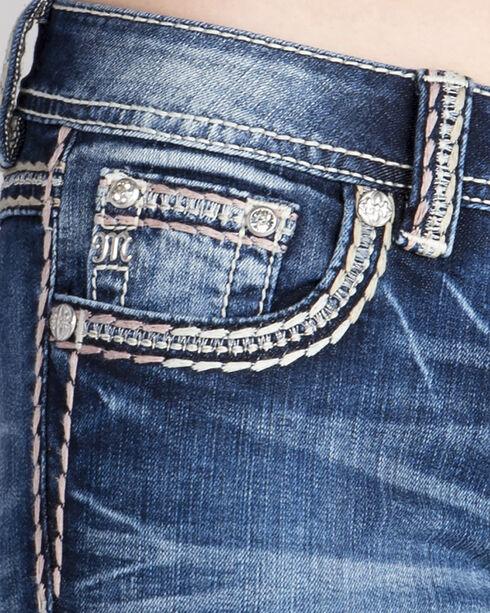 Miss Me Women's Indigo Gold Logo Jeans - Boot Cut, Indigo, hi-res