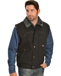 Powder River Outfitters Men's Snap-Front Wool Vest, , hi-res