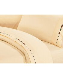HiEnd Accents Cross Embroidered Cream Sheet Set - Queen, , hi-res