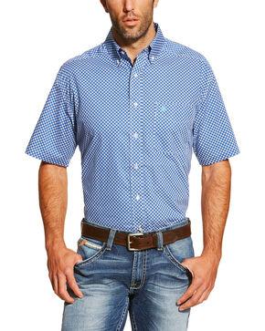Ariat Men's Indiana Short Sleeve Shirt, Blue, hi-res