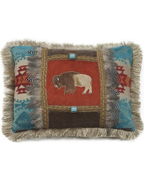 Carstens Feather Buffalo Pillow, , hi-res