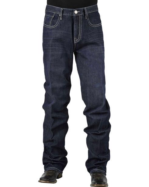 Stetson Men's Premium Standard Fit Boot Cut Jeans, Denim, hi-res
