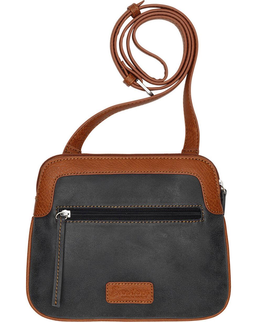 Bandana by American West Women's Maya 2 Compartment Crossbody Bag, Charcoal Grey, hi-res