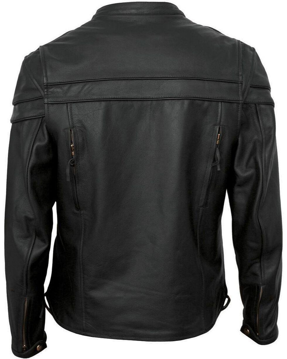 Interstate Leather Men's Rebel Motorcycle Jacket, Black, hi-res
