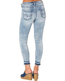 Silver Women's Indigo Avery Ankle Skinny Light Wash Jeans , , hi-res