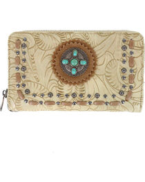 Trinity Ranch Women's Tooled Western Wallet, , hi-res
