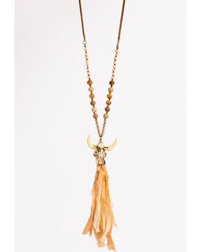 Shyanne Women's Adilene Longhorn Tassel Necklace, Gold, hi-res