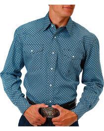 Roper Men's Circle Printed Long Sleeve Shirt, , hi-res