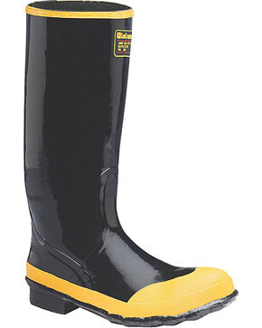 LaCrosse Men's Economy Knee Steel Toe Work Boots, Black, hi-res