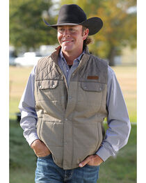 Cinch Men's Brown Quilted Polyfill Vest , , hi-res