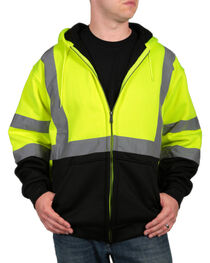 American Worker Men's High Visibility Safety Jacket, , hi-res