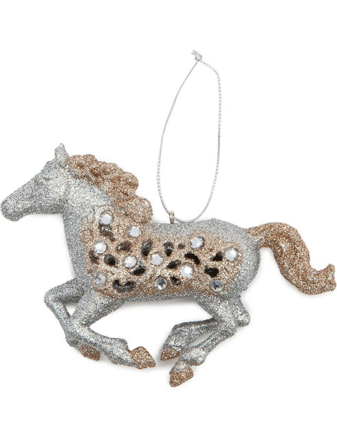 BB Ranch Running Glitter Horse Ornament, No Color, hi-res