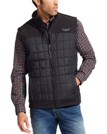 Ariat Men's Black Persistence Vest , , hi-res