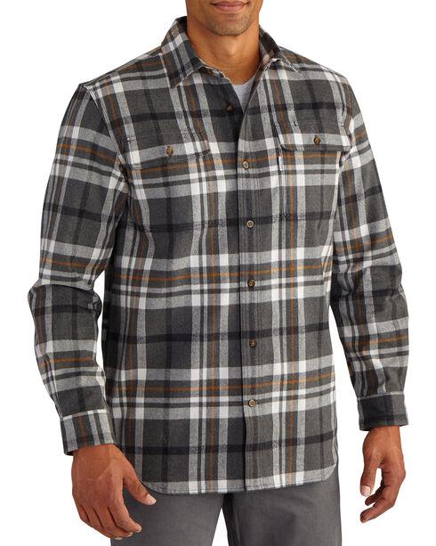 Carhartt Men's Hubbard Plaid Long Sleeve Shirt, Heather Grey, hi-res
