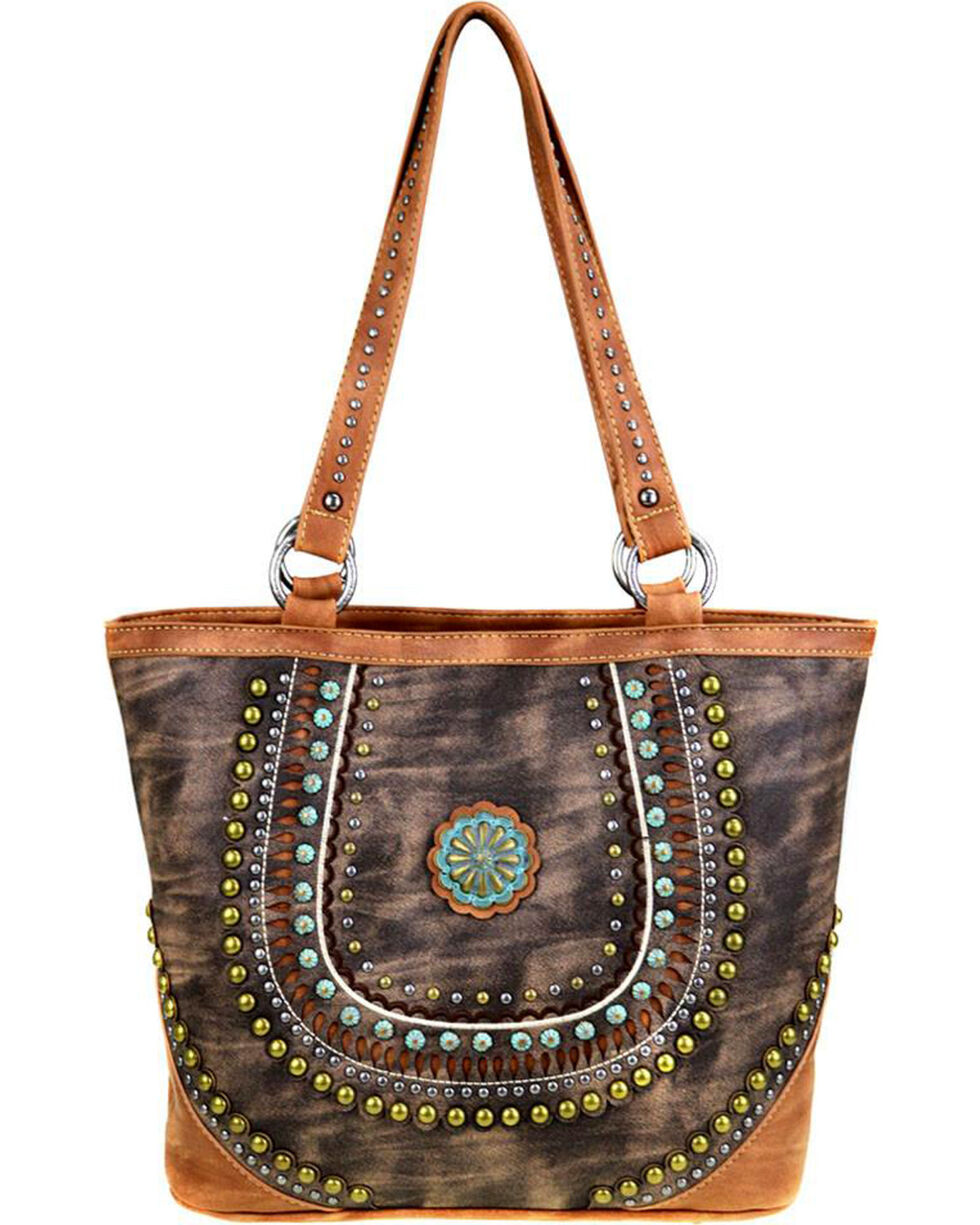 Montana West Women's Coffee Concealed Handgun Tote , Brown, hi-res
