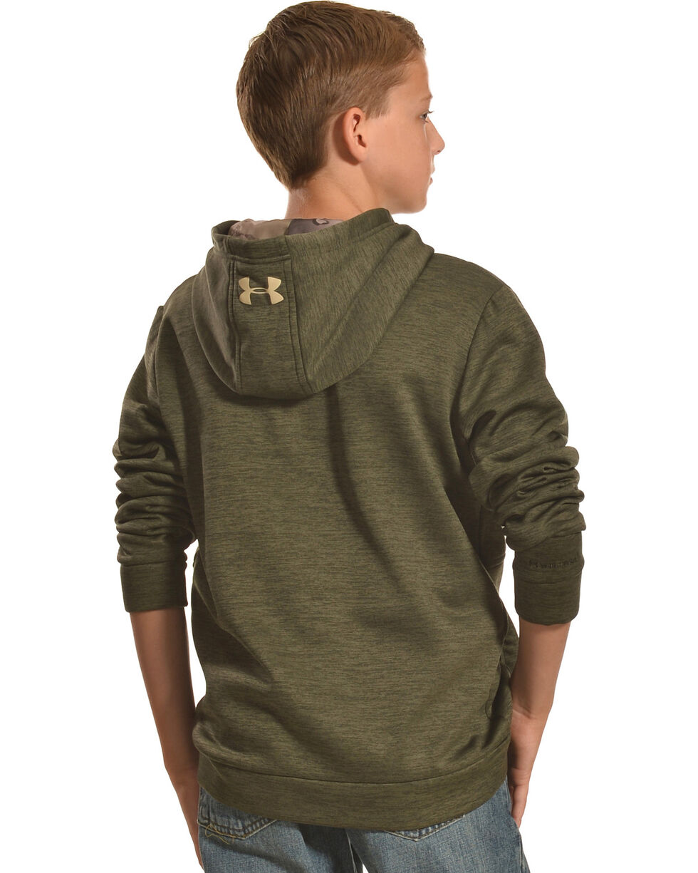 Under Armour Boys' Storm Icon Caliber Hoodie, Green, hi-res