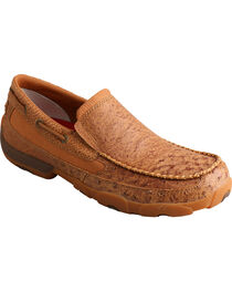 Twisted X Men's Brown Driving Mocs , Bomber, hi-res