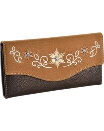 Blazin' Roxx Women's Tri-Fold Starburst Wallet, , hi-res