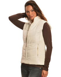 Jane Ashley Women's Stone White Quilted Princess Vest , , hi-res