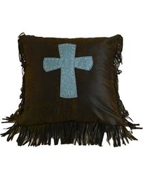 HiEnd Accents Cheyenne Cross Pillow, , hi-res