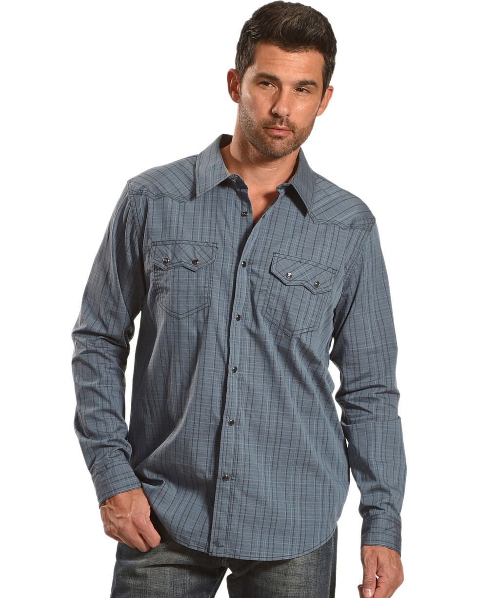 Cody James Men's Windy Ridge Long Sleeve Shirt, Blue, hi-res