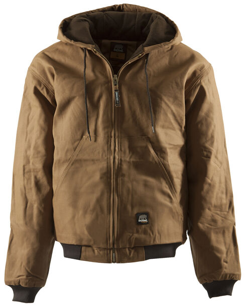 Berne Duck Original Hooded Jacket - 3XL and 4XL, Brown, hi-res