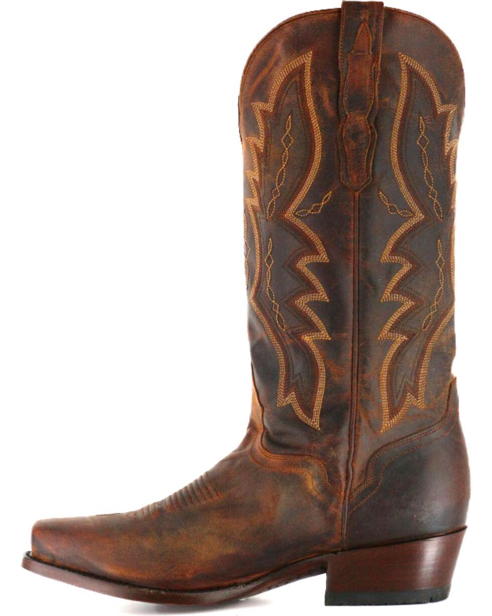 El Dorado Men's Distressed Goat Square Toe Western Boots, Brown, hi-res