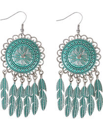 Shyanne® Women's Dreamcatcher Feather Earrings, , hi-res