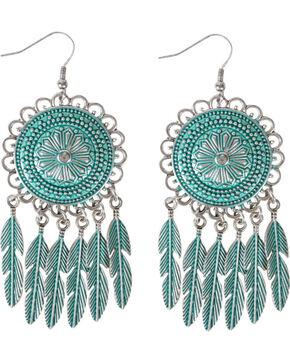 Shyanne® Women's Dreamcatcher Feather Earrings, Silver, hi-res