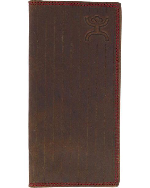 HOOey Men's Rodeo Pinstripe Wallet, Brown, hi-res