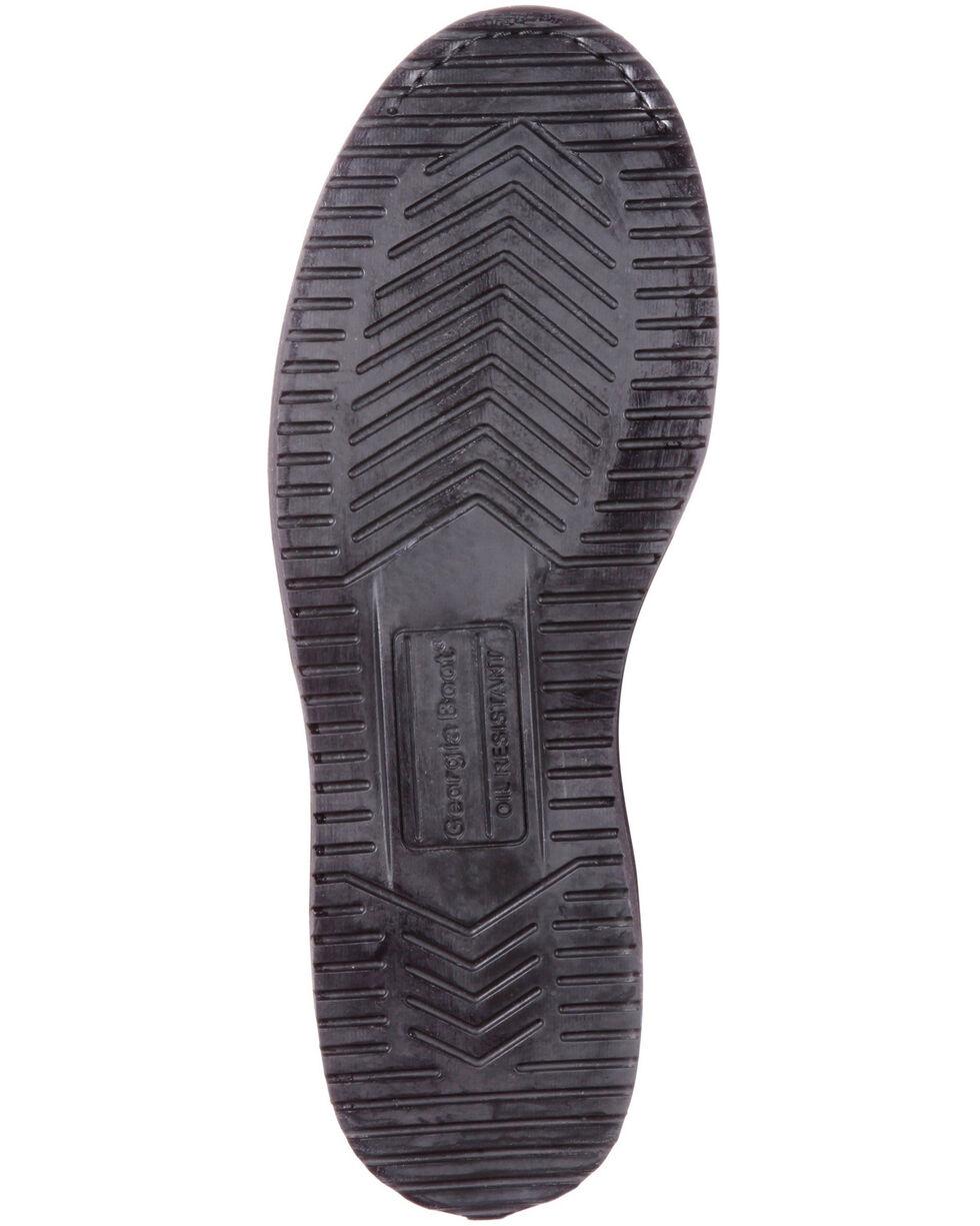 Georgia Boot Men's Waterproof Wedge Work Boots - Round Toe , Distressed Brown, hi-res