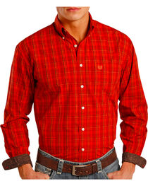 Panhandle Men's Plaid Contrast Long Sleeve Shirt, , hi-res