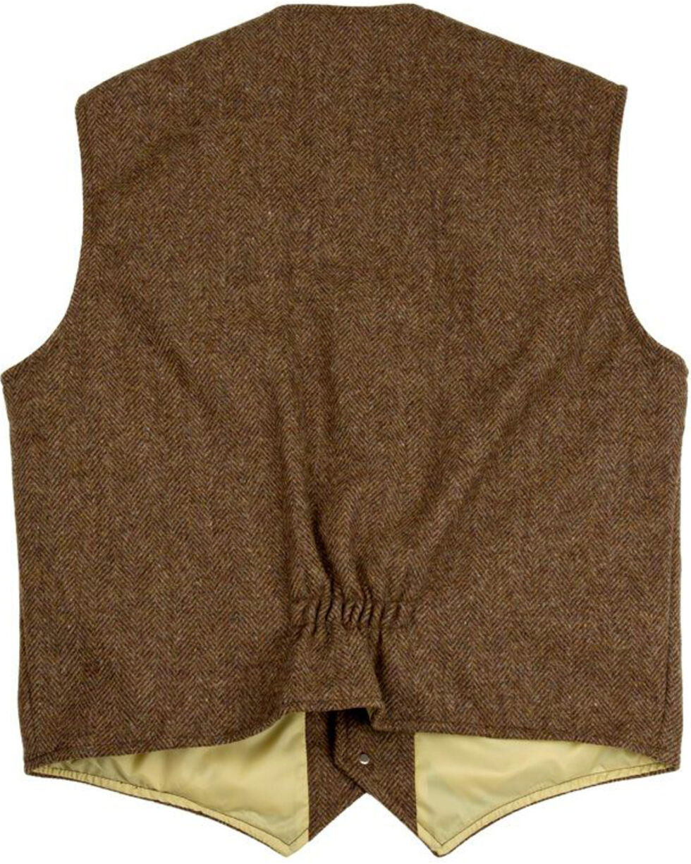 Schaefer Outfitter Men's 707 McClure Chocolate Herringbone Merino Wool Vest - Big, Chocolate, hi-res