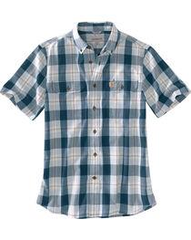 Carhartt Men's Plaid Printed Short Sleeve Shirt, , hi-res