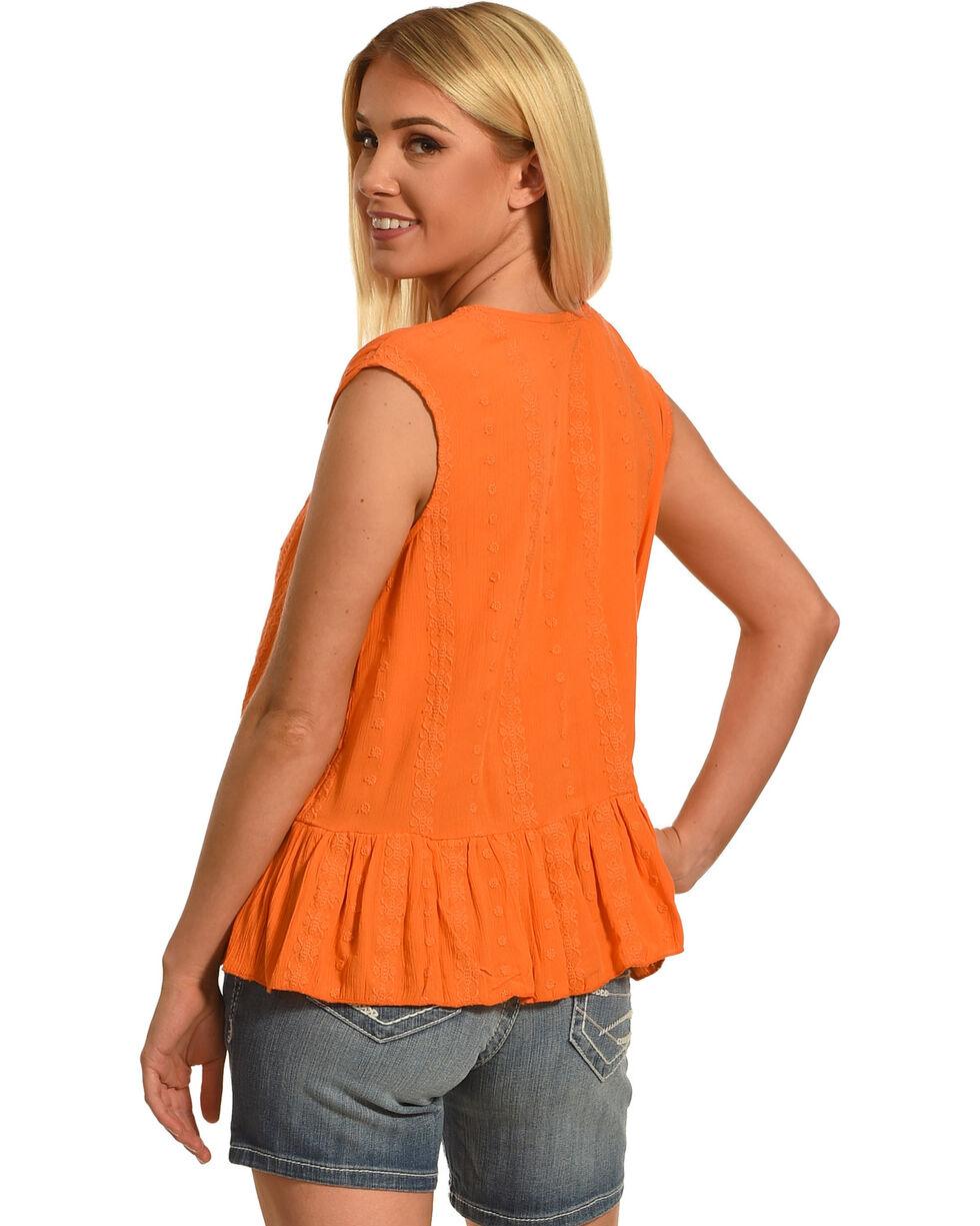Jane Ashley by Jeetish Women's Ruffle Tank Top , Orange, hi-res