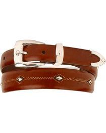 Denver Diamond-Shaped Stud Belt, , hi-res