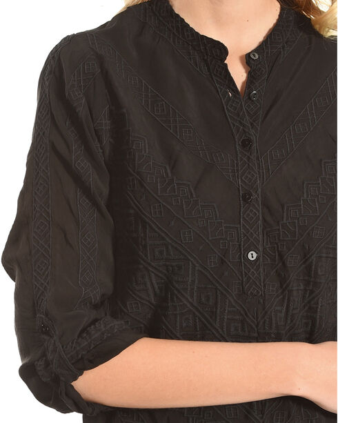Johnny Was Women's Black Baro Embroidered Tunic , Black, hi-res