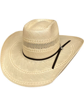 Bullhide Men's Gleason 100X Straw Cowboy Hat, Tan, hi-res