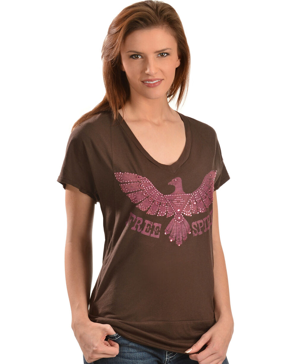 Wrangler Rock 47 Women's Thunderbird T-Shirt, Brown, hi-res
