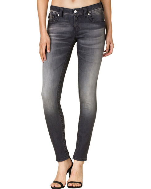Miss Me Women's Grey Denim Skinny Jeans, Grey, hi-res