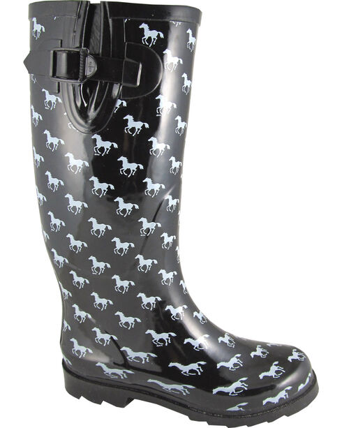 Smoky Mountain Women's Ponies Waterproof Boots, Black, hi-res