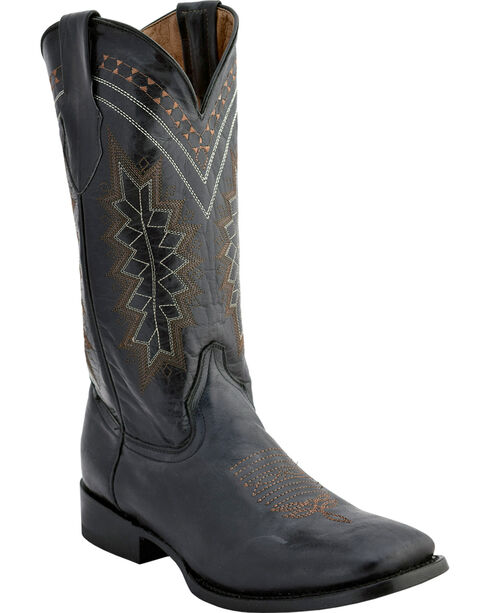 Ferrini Men's Apache Western Boots - Square Toe , Black, hi-res